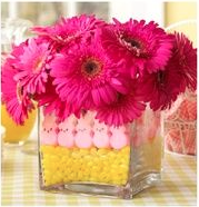 Peeps and Daisies - Easter decoration