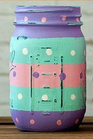 Painted Mason Jars - Easter Decoration