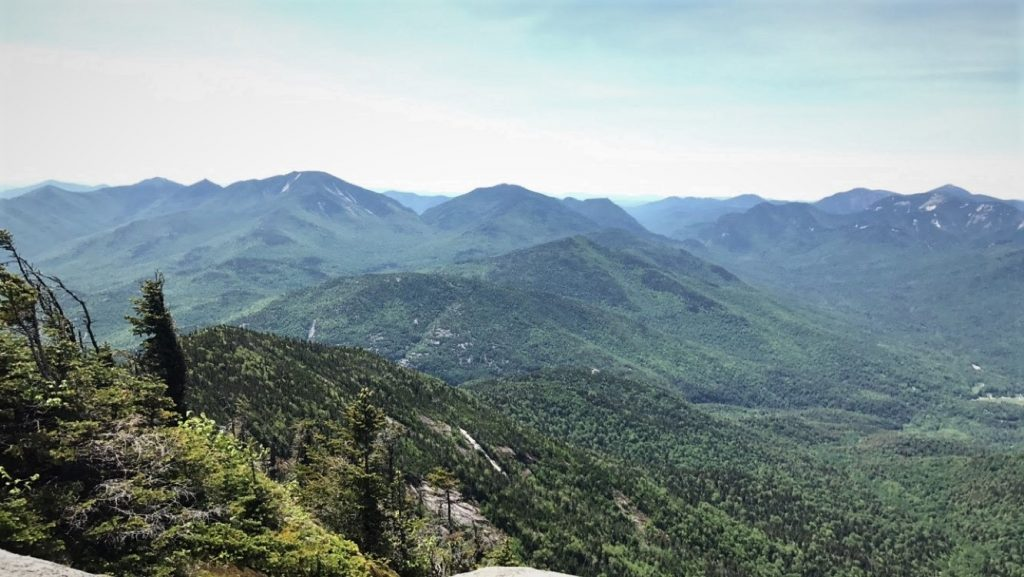 A view from the top of Giant Mountain in the Adirondacks
