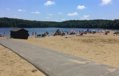 Beach at Moreau Lake