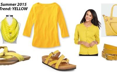 2015 Spring Summer Fashion Trend - Yellow