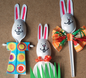 Bunny Spoons - Easter crafts for kids