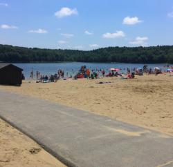 Beach at Moreau Lake